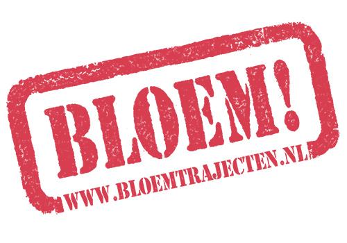 Logo BLOEM! trajecten in rood